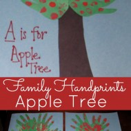 Kids Handprint Craft – A is for Apple Tree!