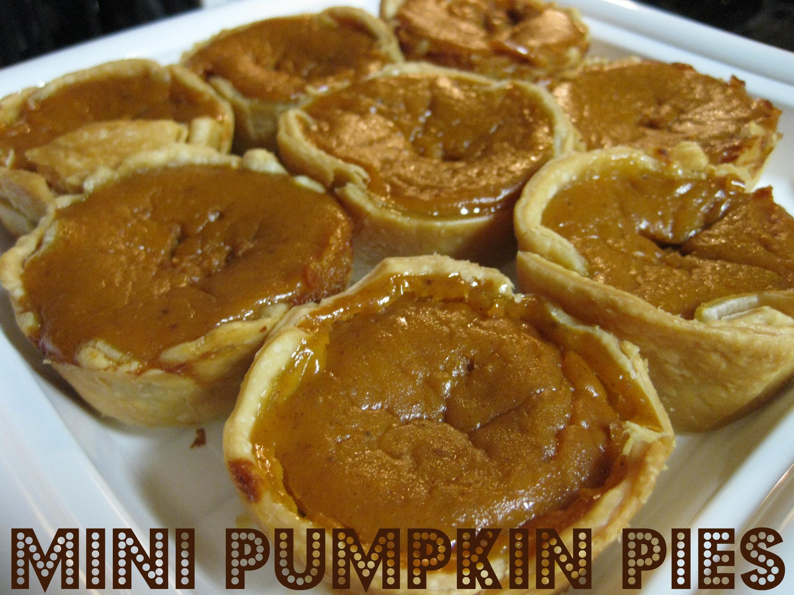 Mini Pumpkin Pies!