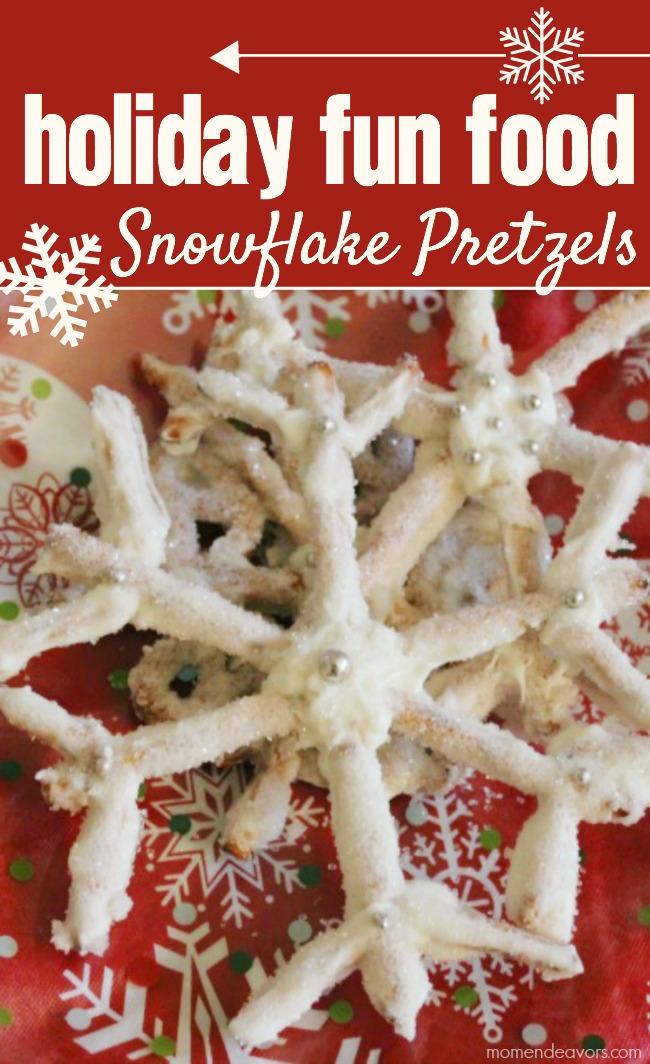 Holiday Treat Snowflake Pretzels