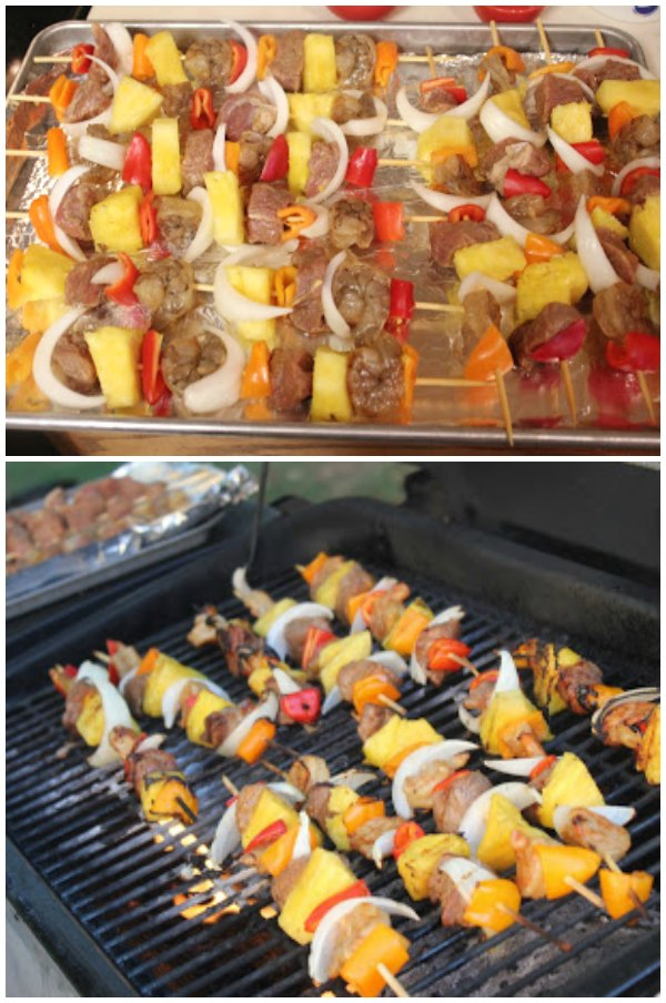 Grilling Tropical Kabobs