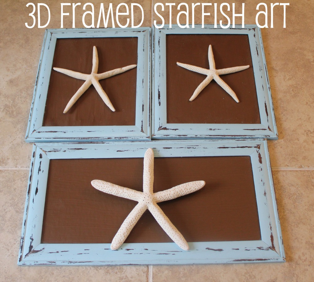 Easy diy decor 3d framed starfish art Simple wall art