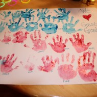Family Handprint Flag