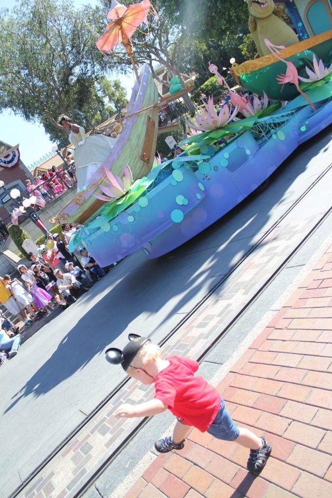 Dancing at Disneyland to Mickey's Soundsational Parade