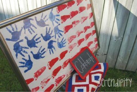 Family Handprint Flag