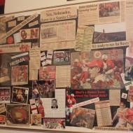 College Football Saturday Tailgate: Football Memorabilia Collage