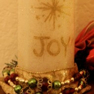 Handpainted Flameless Christmas Candle {+ a Martha Stewart Crafts GIVEAWAY!!}