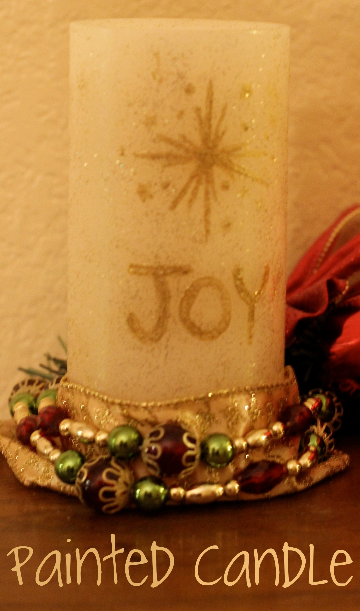 Handpainted Flameless Christmas Candle A Martha Stewart Crafts Giveaway Mom Endeavors