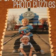 Popsicle Stick Photo Puzzles