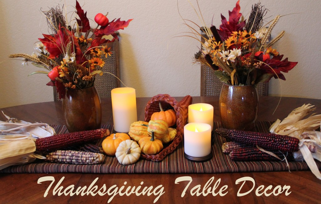 Cornucopia of creativity diy thanksgiving table decor Thanksgiving table decorations homemade