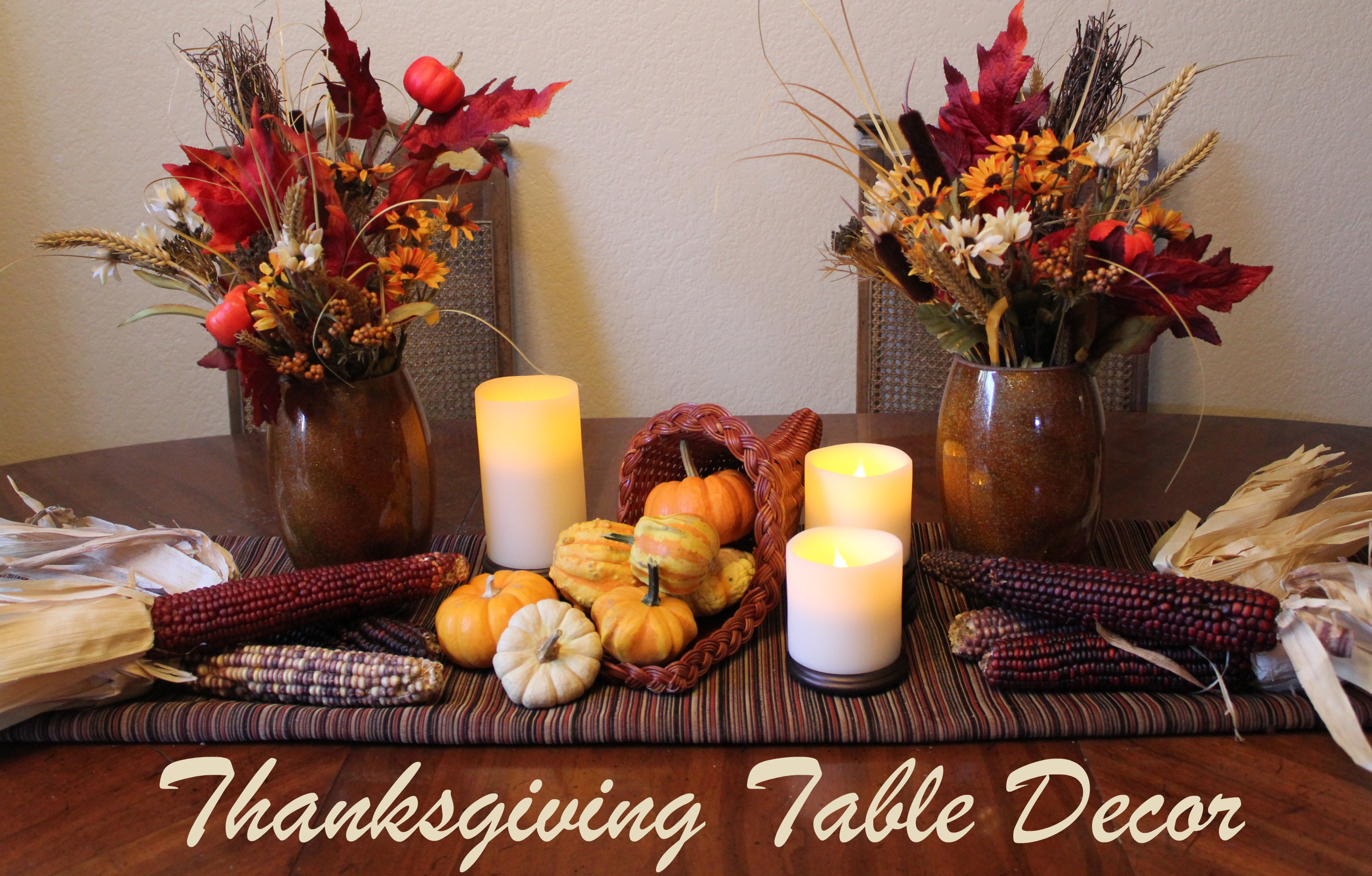 Cornucopia of creativity diy thanksgiving table decor Cheap thanksgiving table setting ideas