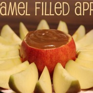 Caramel Filled Apples with New Marzetti Sweet & Salty Caramel Dip {Giveaway!!!}