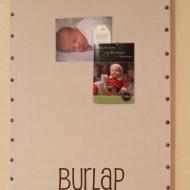 Elmer's #Looks4Less Challenge: Ballard Designs Burlap Message Board Knock Off