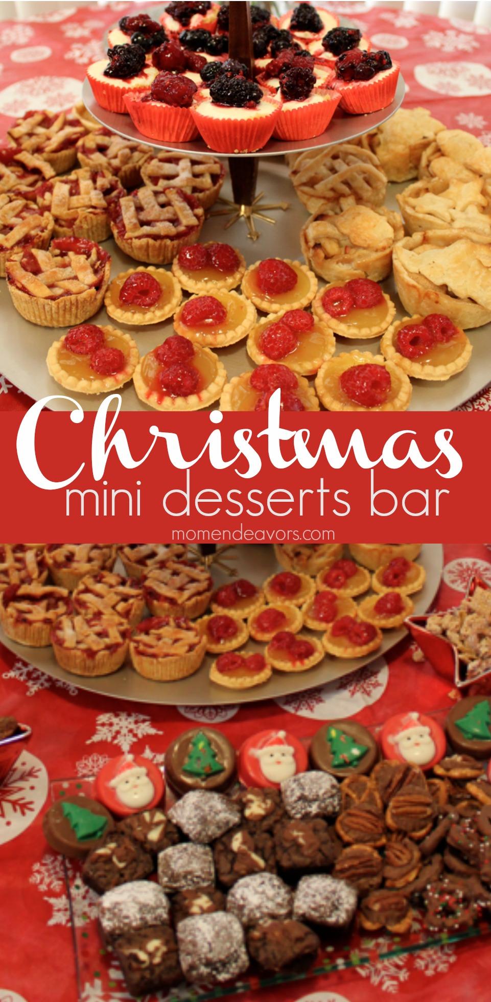 Christmas mini desserts bar