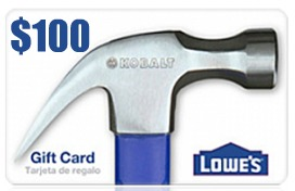$100 Lowe's Gift Card