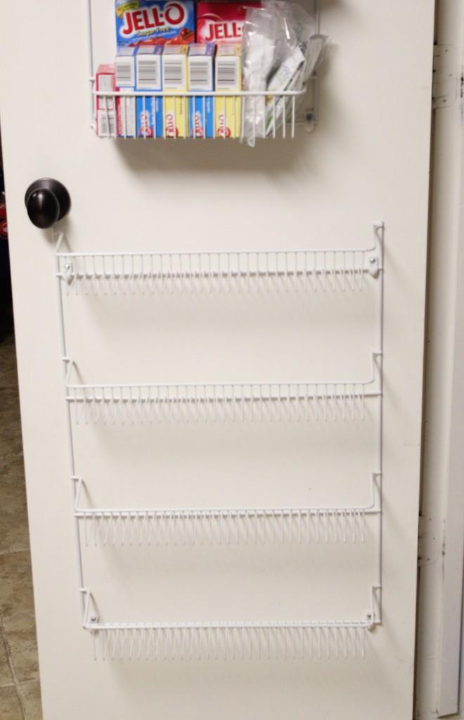 Wire Rack Pantry Organization