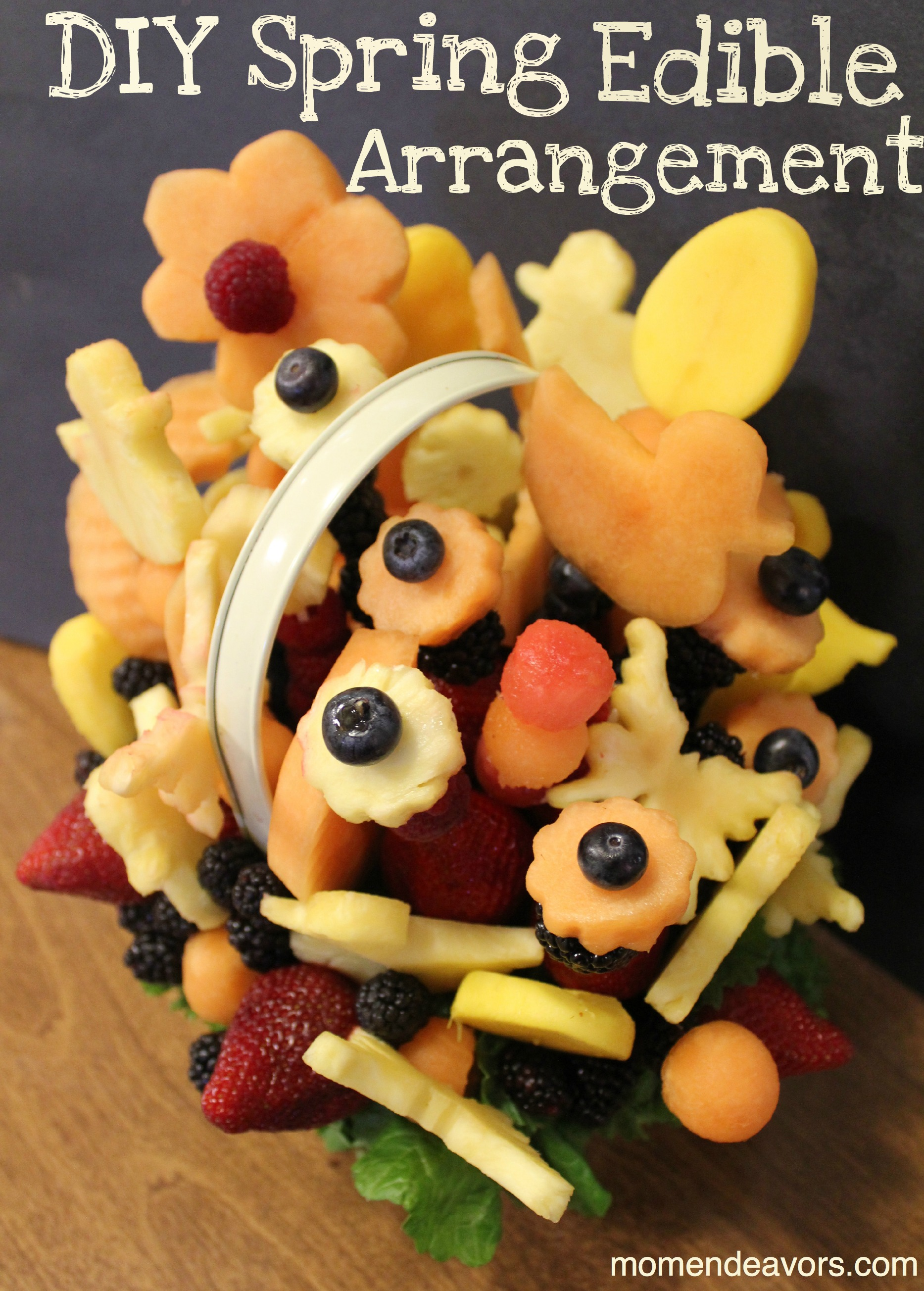 Make your own edible arrangement perfect for spring for Homemade edible mother s day gifts