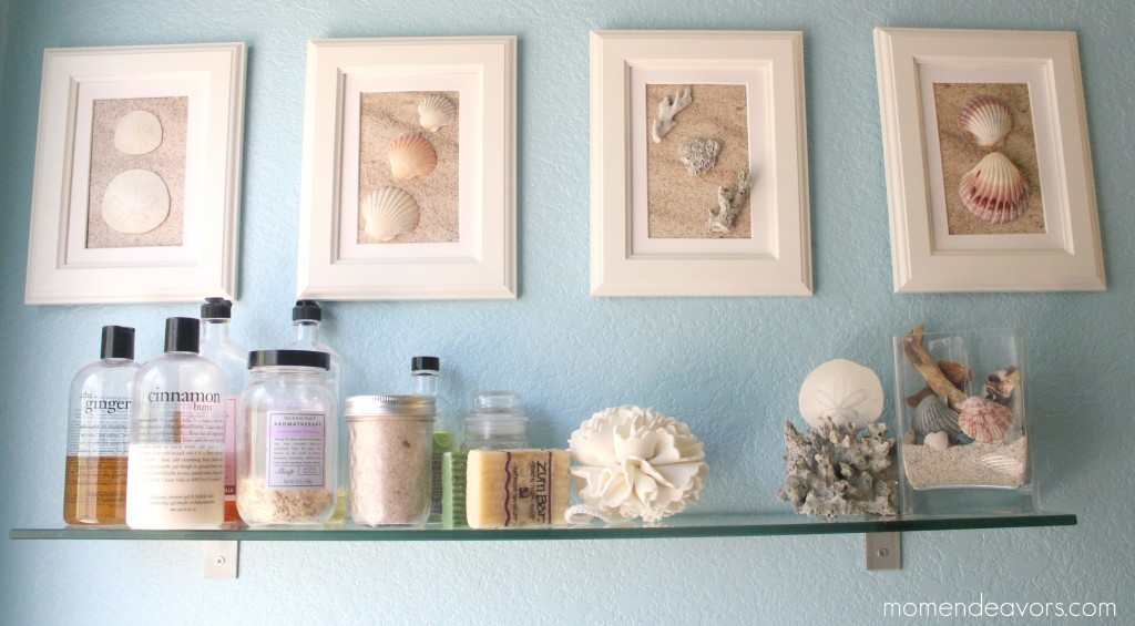 Framed Shell Art.  DIY.