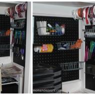 DIY Craft Room PegBoard Storage Tutorial