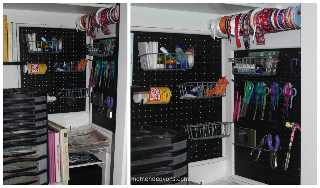 Diy craft room pegboard storage tutorial for Diy room storage