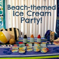 Beach-Themed Ice Cream Party Playdate #IceCreamTreat