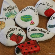 DIY Painted Rock Garden Markers #ExpressYourself