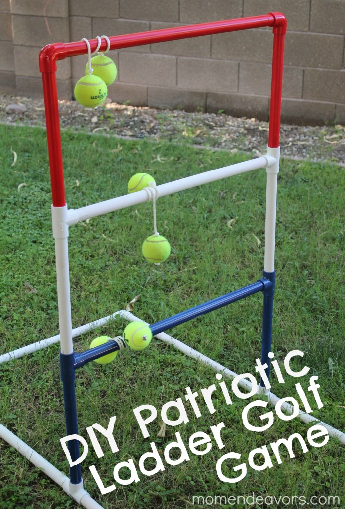 DIY Patriotic Ladder Golf Game