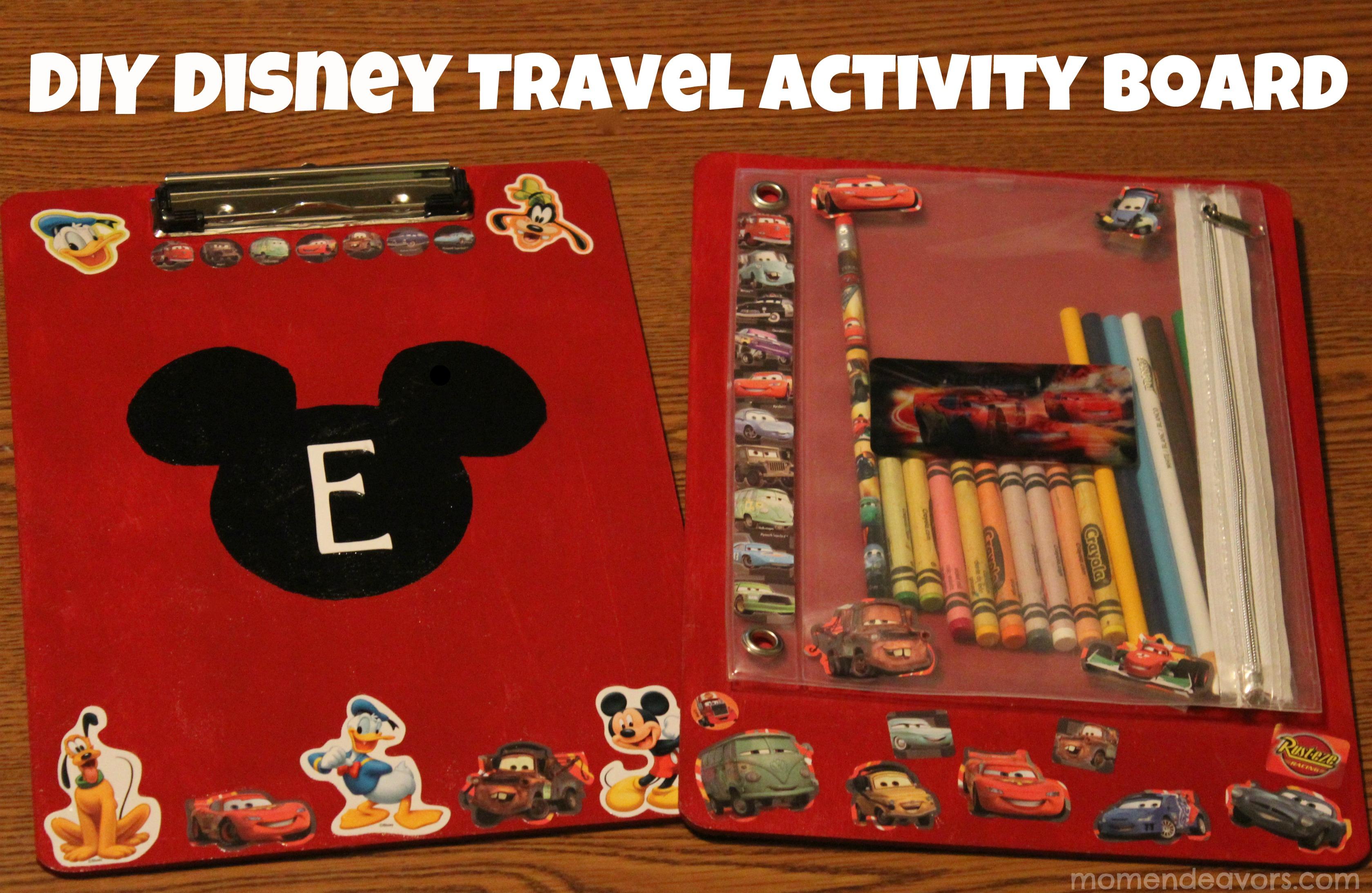 DIY Disney Craft: Kids\' Travel Coloring/Activity Board
