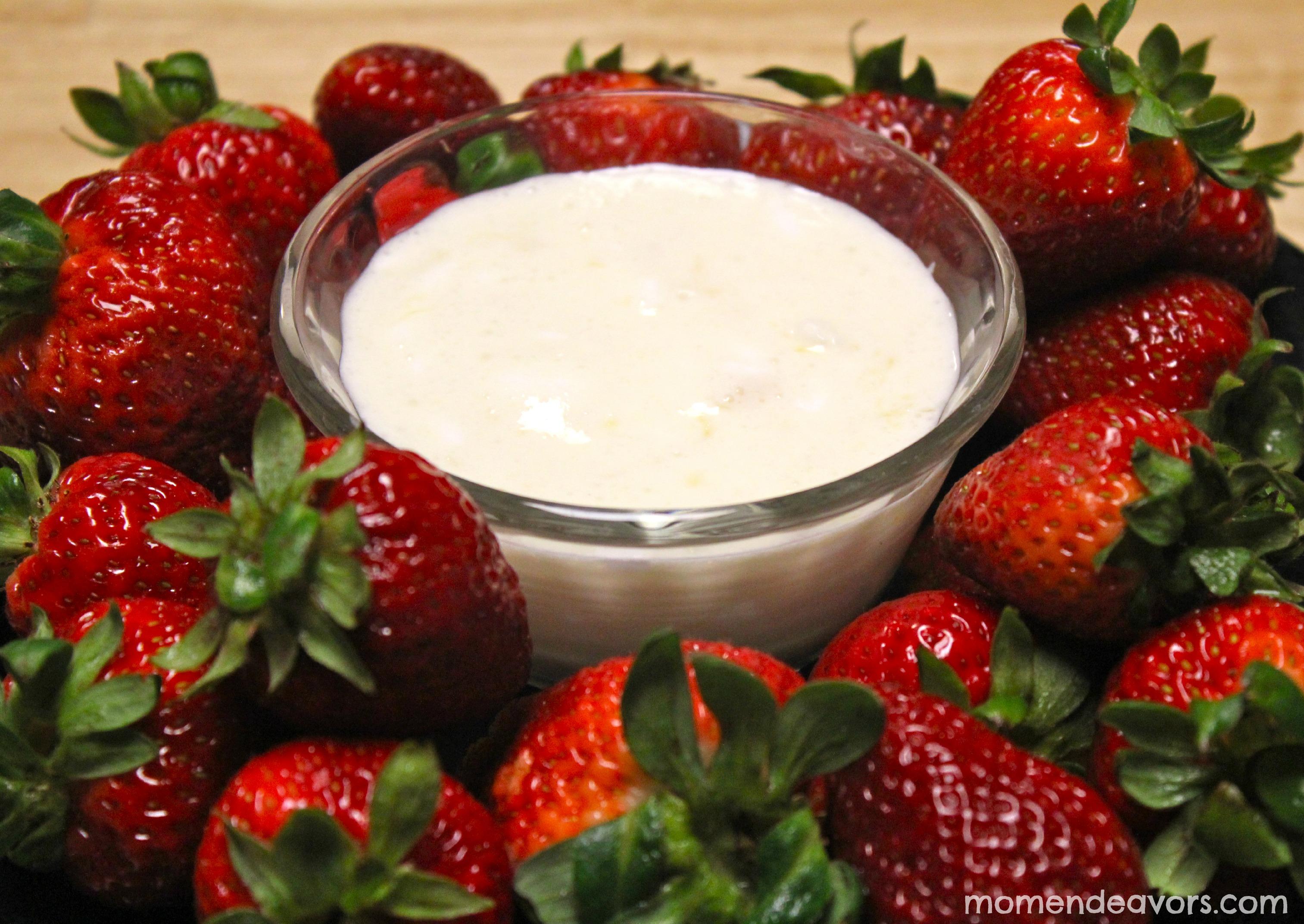 Fruit Dip & Strawberries