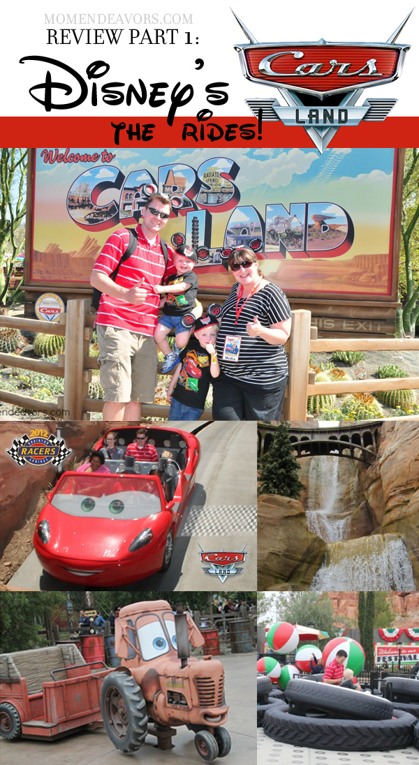 Review of Cars Land PART 1 The Rides