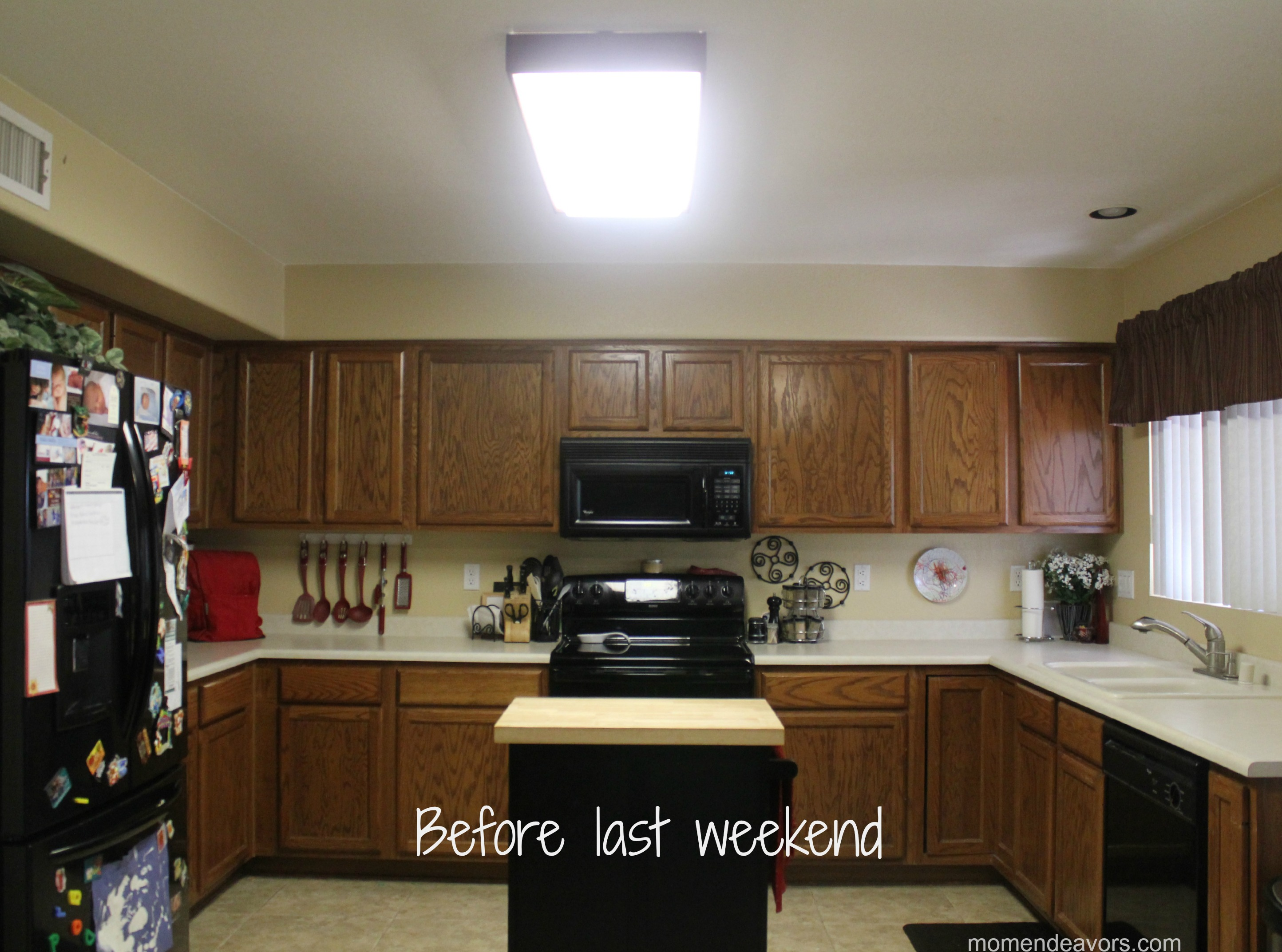 Lighting For Kitchen Mini Kitchen Remodel New Lighting Makes A World Of Difference
