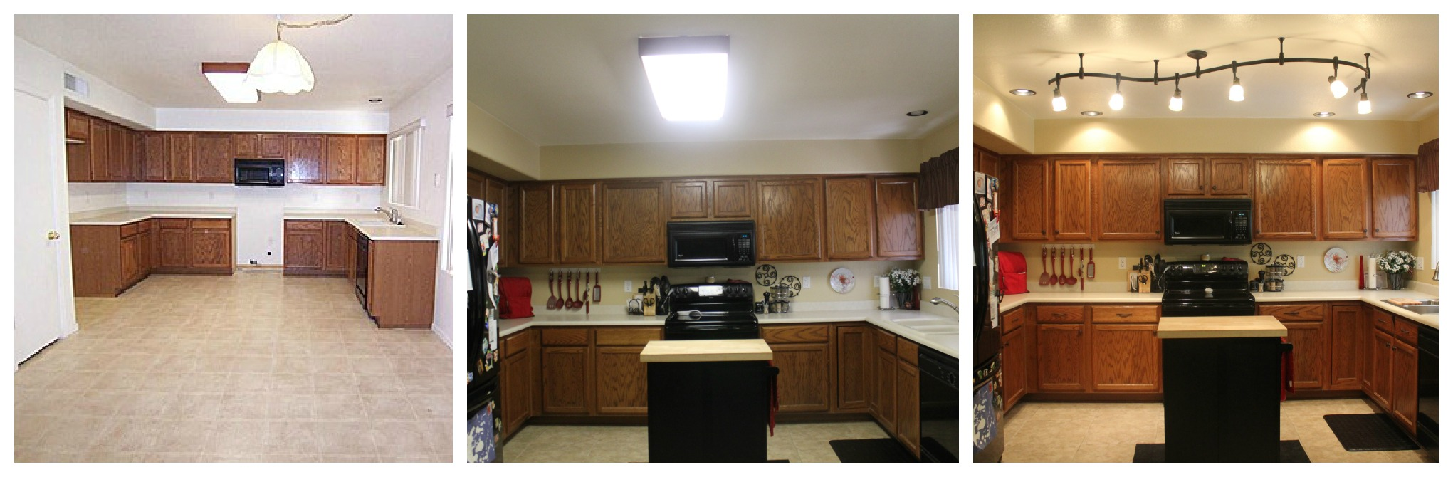 Kitchen Light In Mini Kitchen Remodel New Lighting Makes A World Of Difference