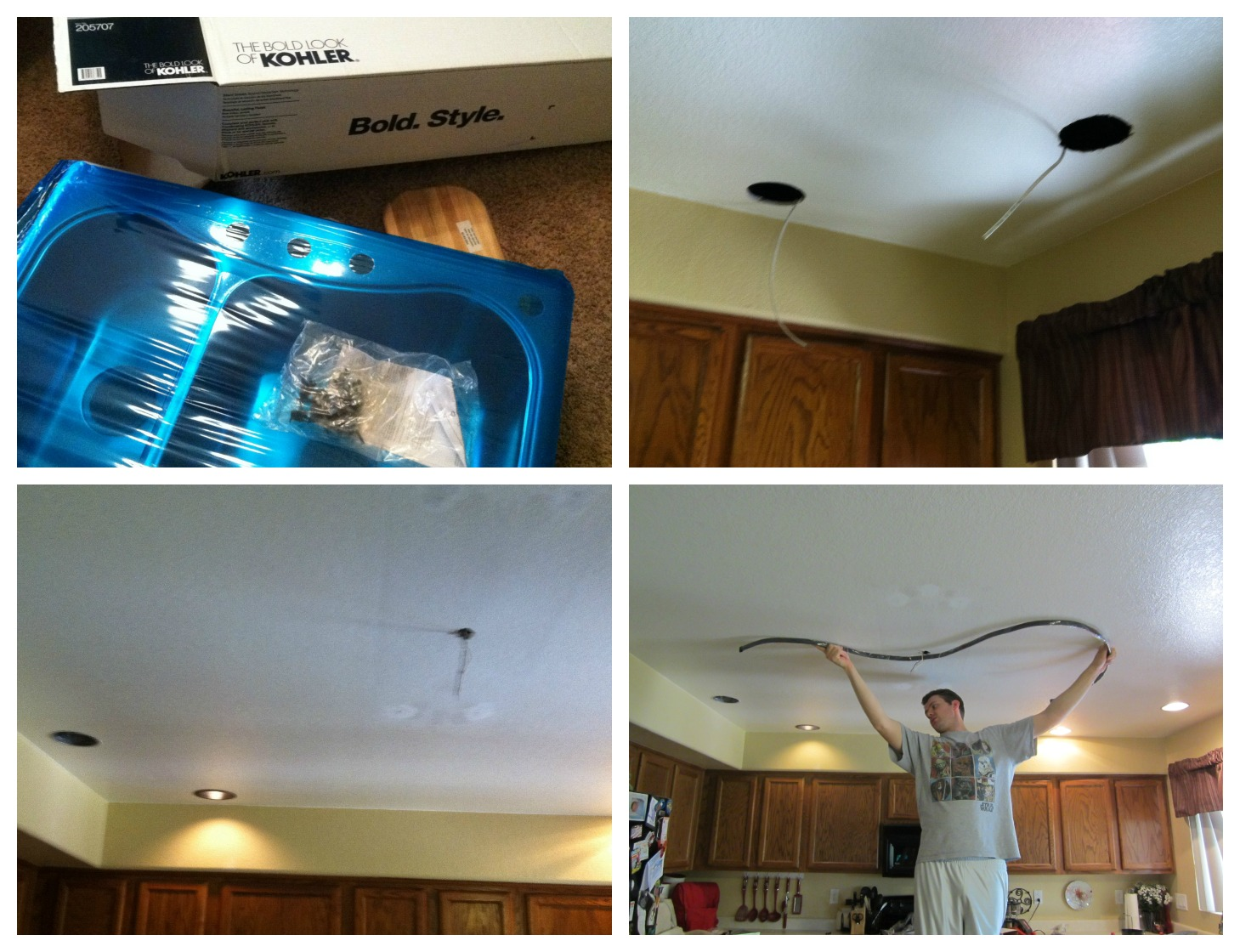 Mini Kitchen Remodel New Lighting Makes A World Of Difference Mom Endeavors