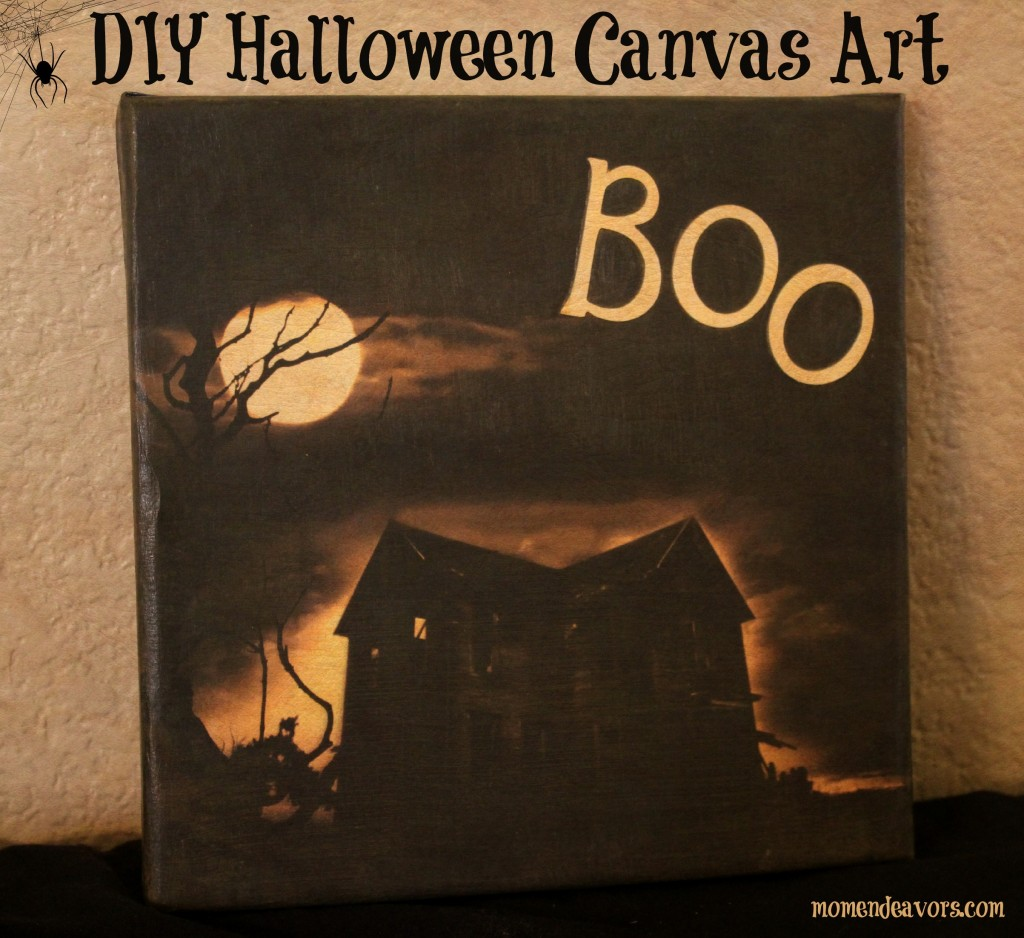 Easy DIY Halloween Canvas Art