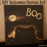 Easy DIY Halloween Canvas Art