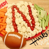 Nebraska Huskers Tailgating Veggie Tray {College Football Saturday Tailgate Party 2012}