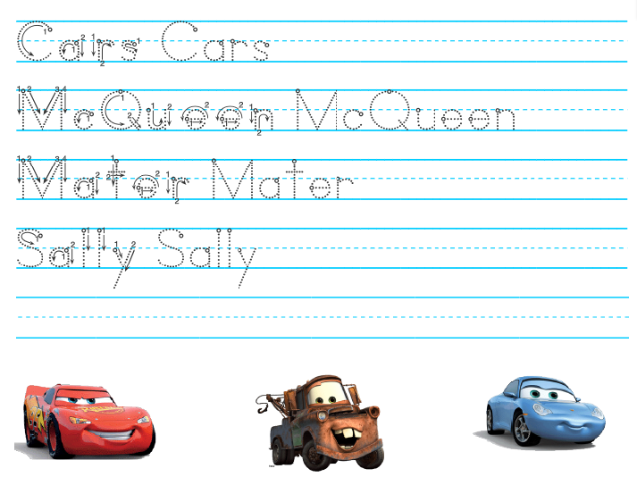 Disney Pixar Cars Prek Printable Activity Sheets Travel Tuesday