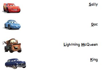 Disney Pixar Cars Prek Printable Activity Sheets Travel