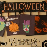 DIY Halloween Sign & Artwork Display