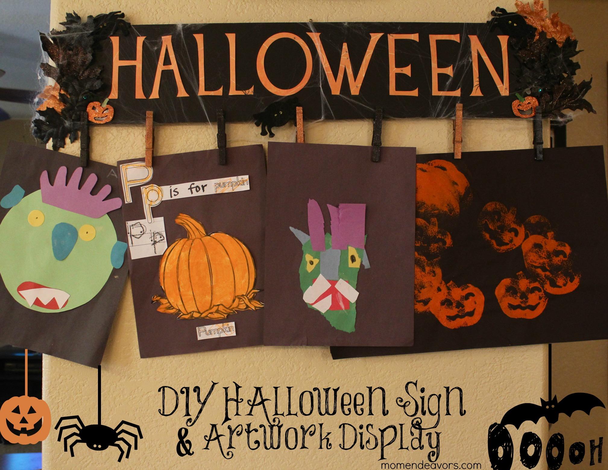 Diy Halloween Sign Amp Artwork Display