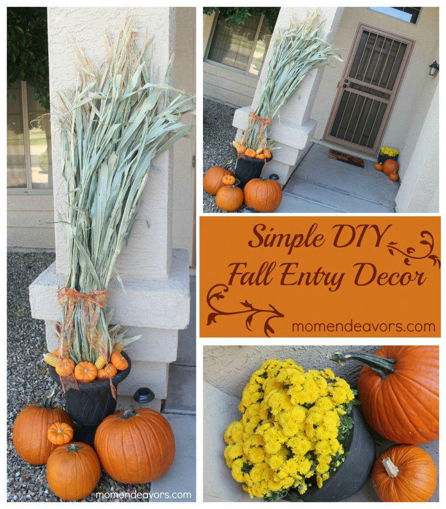 Simple Fall Front Entry Decor {plus a $100 Lowe's Gift Card Giveaway!