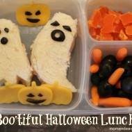 Halloween lunch with ghost sandwiches!