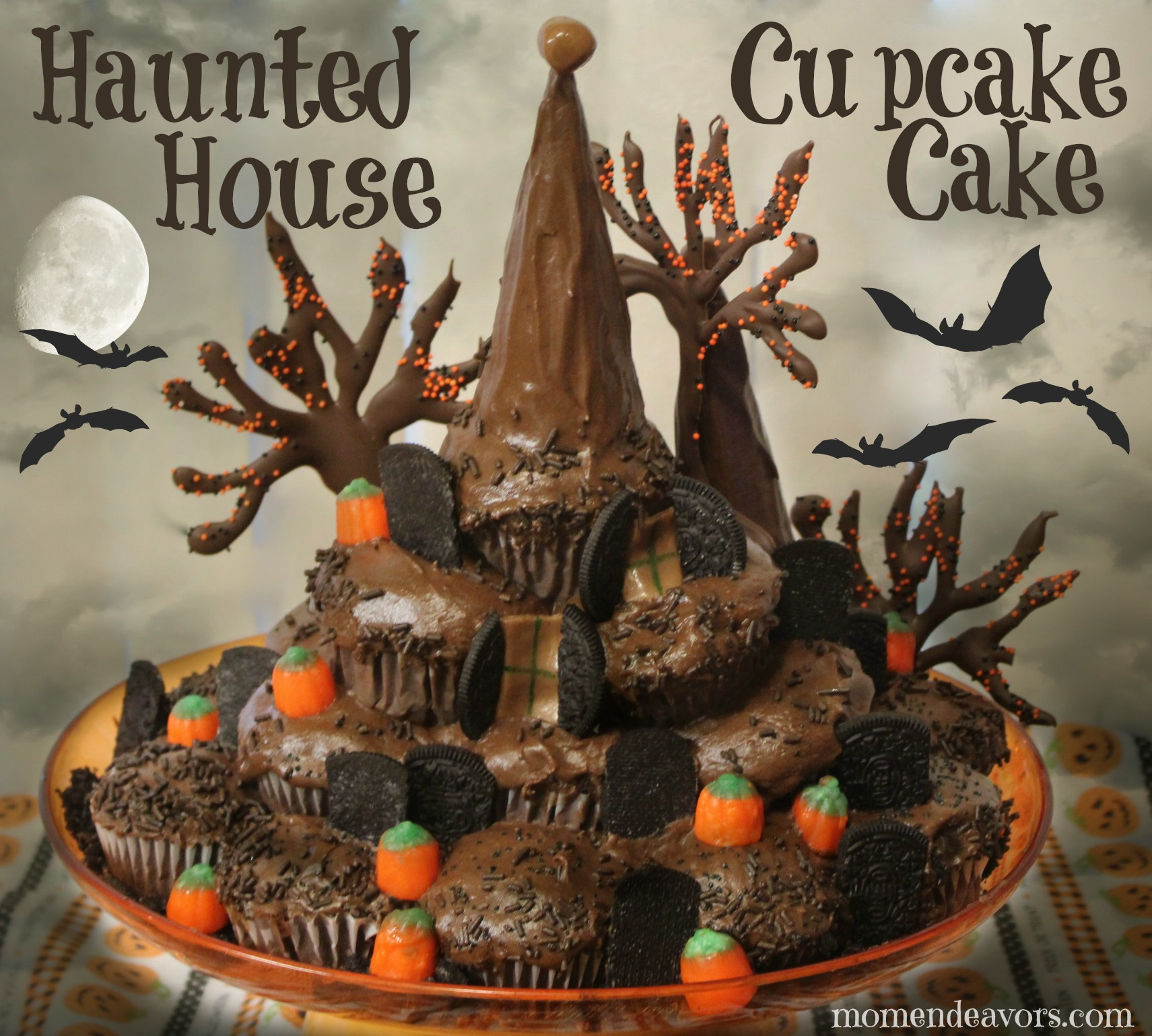 Haunted House Cupcake Cake
