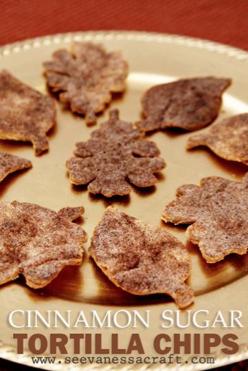 Cornucopia of Creativity: Homemade Cinnamon Sugar Tortilla Chips {See Vanessa Craft}