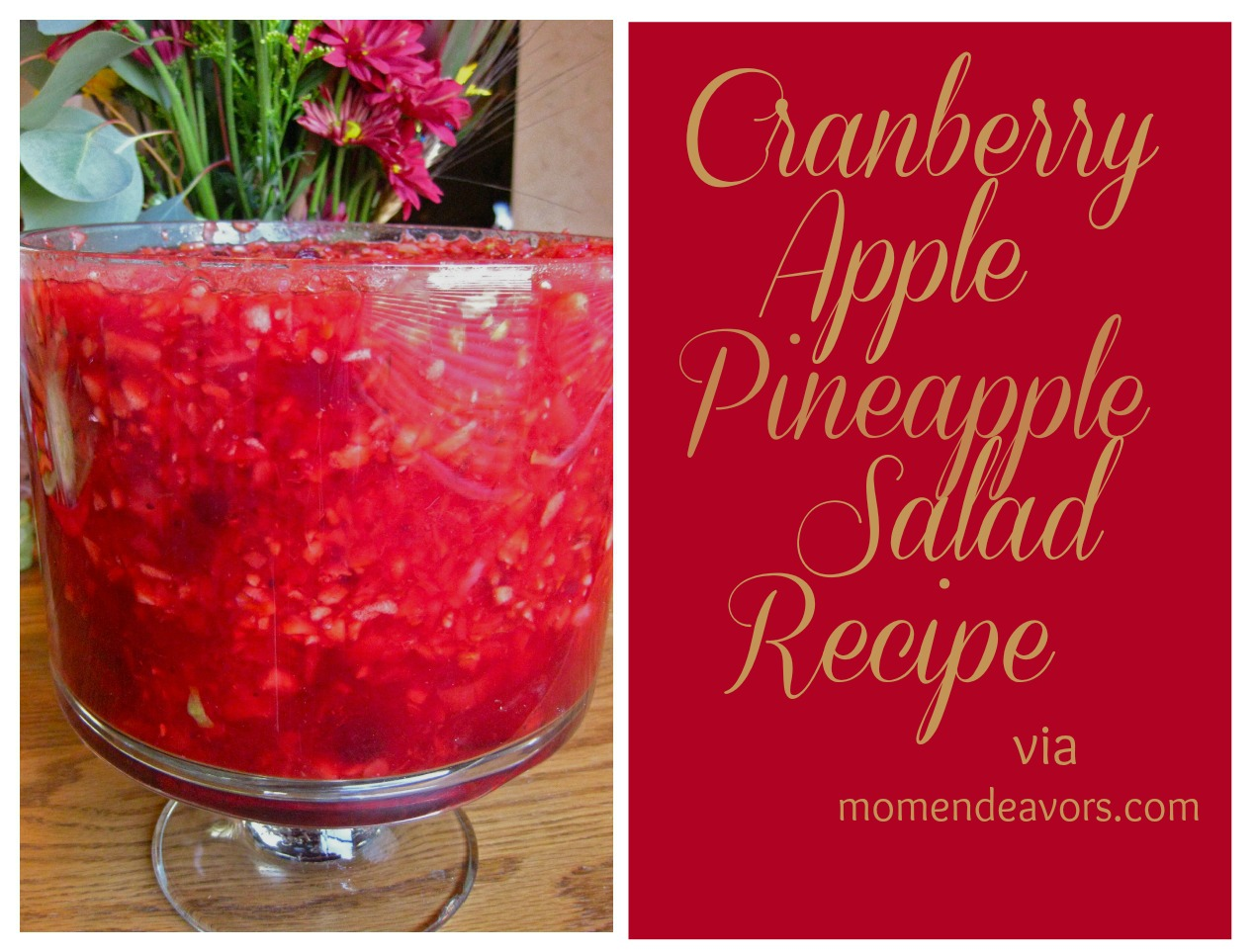 Cornucopia of Creativity: Cranberry Apple Pineapple Salad