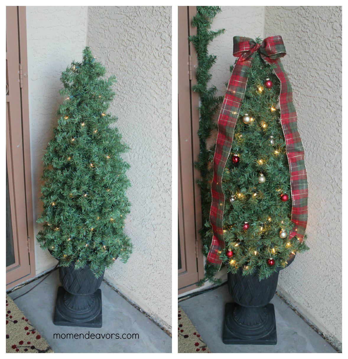 Outdoor Topiary Trees With Lights Diy decorative topiary christmas trees once workwithnaturefo