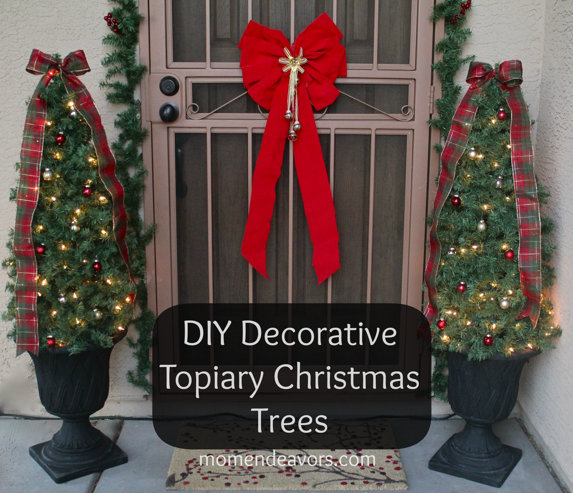 diy decorative topiary christmas trees - Topiary Christmas Decorations