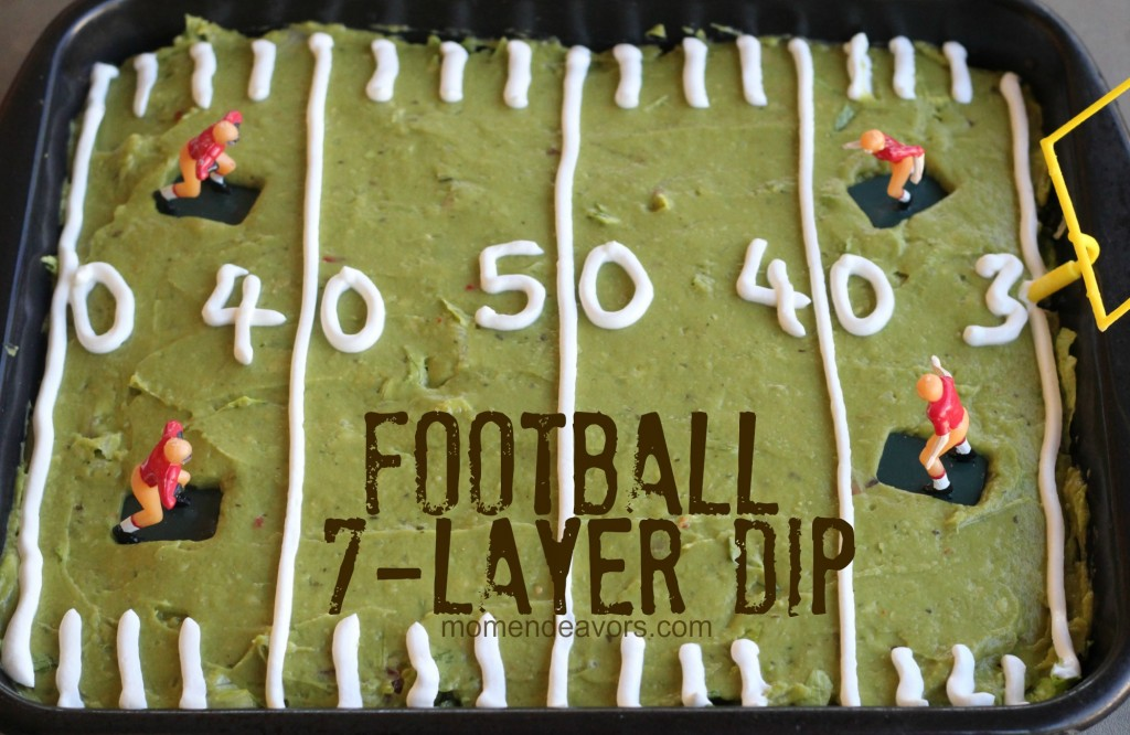 football 7layer dip college football tailgate party