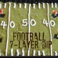 Football 7-Layer Dip {College Football Tailgate Party}