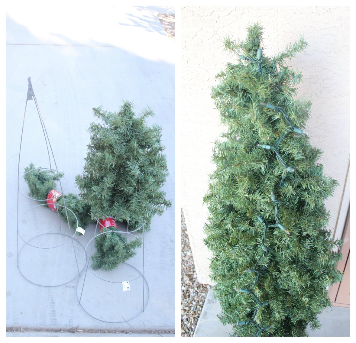 Christmas Trees Made From Tomato Cages: DIY Decorative Topiary Christmas Trees