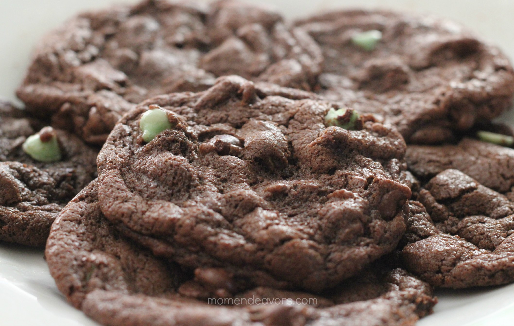 Mint Chocolate Chip Cookies Using Cake Mix